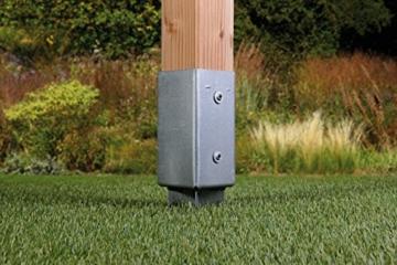 GAH-Alberts 211288 Einschlag-Bodenhülse für Vierkantholzpfosten, feuerverzinkt, 91 x 91 mm / 750 mm -