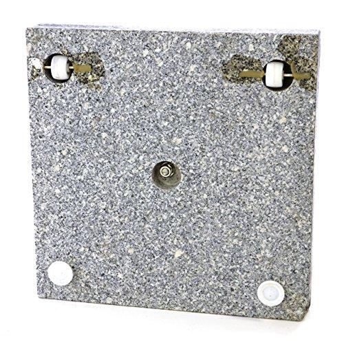 sonnenschirmst nder 30kg polierter granit edelstahl eckig 45 x 45 cm schirmst nder mit griff und. Black Bedroom Furniture Sets. Home Design Ideas