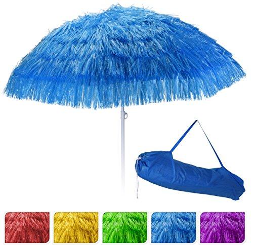 sonnenschirm hawaii 160 cm fransenschirm strandschirm fransen hawaiischirm blau. Black Bedroom Furniture Sets. Home Design Ideas