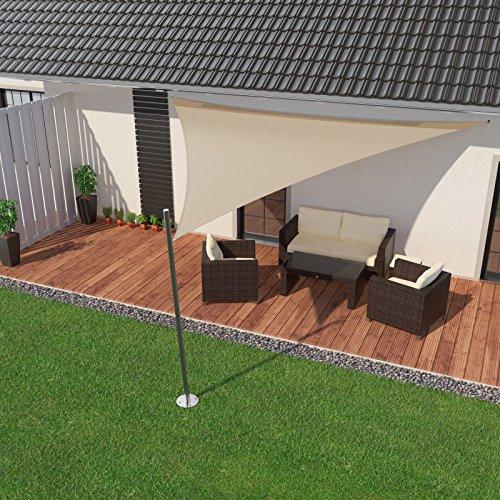 sonnensegel dreieck fabulous p u dreieck sonnensegel u sichtschutz u kirchdorf with sonnensegel. Black Bedroom Furniture Sets. Home Design Ideas