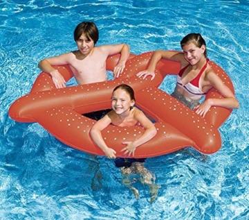 Aufblasbare Brezel 140*120 cm – Luftmatratze – Badeinsel – Schwimmring – Schwimmreifen – Braun -