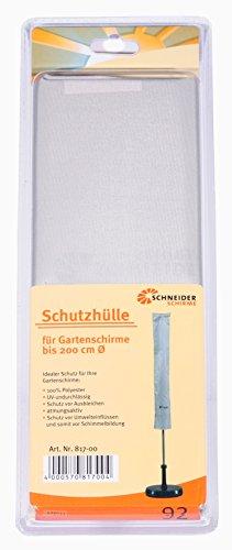 Schneider Schutzhülle für Sonnenschirm, silbergrau, bis ca. 200 cm Ø -