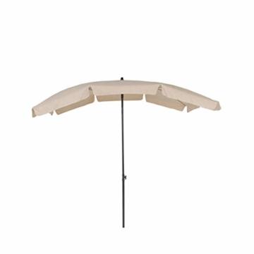 greemotion Sonnenschirm mit UV-Schutz – Balkonschirm in Beige-Grau – Gartenschirm knickbar – Terrassenschirm rechteckig – Outdoor-Schirm für Balkon, Terrasse & Garten -