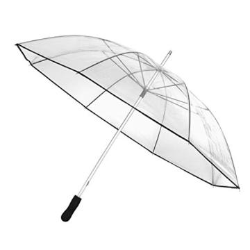 Regenschirm transparent Stockschirm Partnerschirm Golfschirm Schirm XXL -