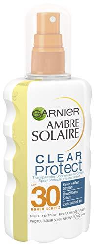 Garnier Ambre Solaire Clear Protect Sonnenschutz Spray LSF 30, Transparent, 1er Pack (1 x 200 ml) -