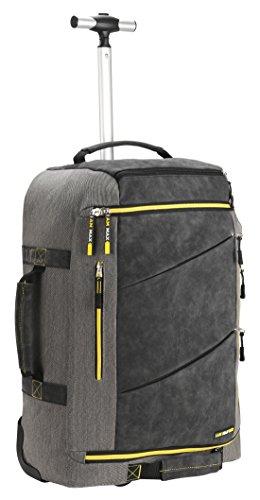 cabin max 55x40x20 handgep ck hartschalenkoffer koffer trolley rucksack grau gelb. Black Bedroom Furniture Sets. Home Design Ideas