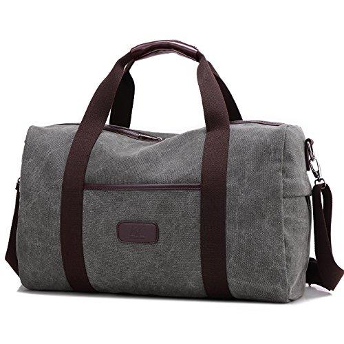 weekender bag reisetasche teamen sporttasche handtasche canvas pu leder tasche umh ngetasche. Black Bedroom Furniture Sets. Home Design Ideas