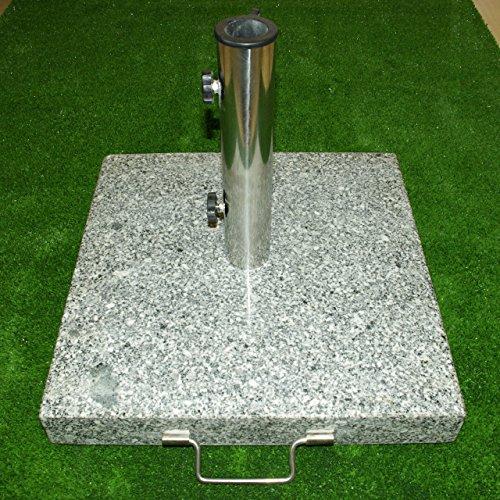 nexos schirmst nder sonnenschirmst nder granit eckig 45x45cm steindicke 5cm ca 25kg. Black Bedroom Furniture Sets. Home Design Ideas