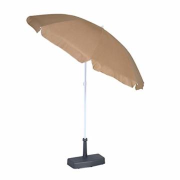 greemotion Sonnenschirmständer – Balkon-Schirmständer für Sonnenschirm aus Beton & Kunststoff – Wand-Sonnenschirmfuß eckig & platzsparend – Balkonschirmständer Anthrazit-Grau, 20kg -