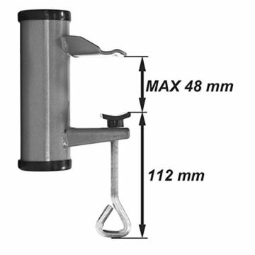 Videx 14217 Sonnenschirmhalter Typ H 3.5 ø aluminium -