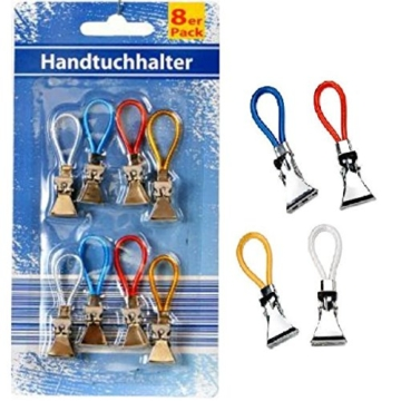 8x Handtuch Clips Handtuchhalter Halter Aufhänger Aufhängeclips Handtuchclips -