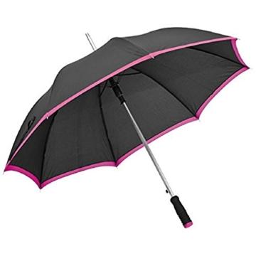 Eleganter Automatik-Regenschirm aus Pongee mit angenehmem Softgriff (pink) -