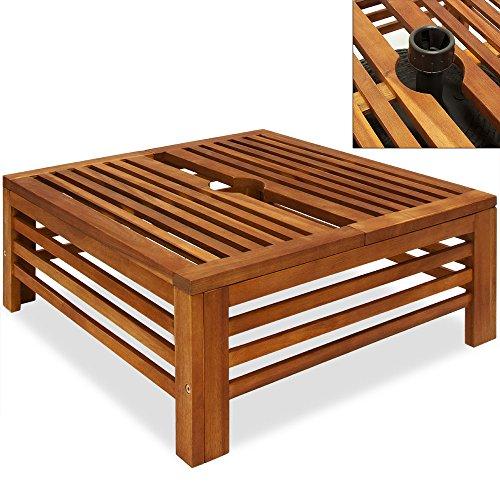 sonnenschirmst nder akazienholz schirmst nder abdeckung standfu sonnenschirm wetterfest bis 9. Black Bedroom Furniture Sets. Home Design Ideas