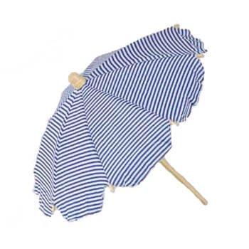 Strandschirm, gestreift, weiss/blau, 42 cm -