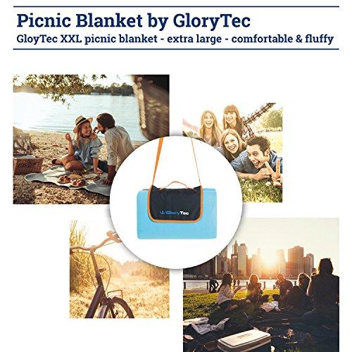 glorytec picknickdecke outdoor 200 x 200cm flauschige campingdecke xxl aus fleece wasserdicht. Black Bedroom Furniture Sets. Home Design Ideas