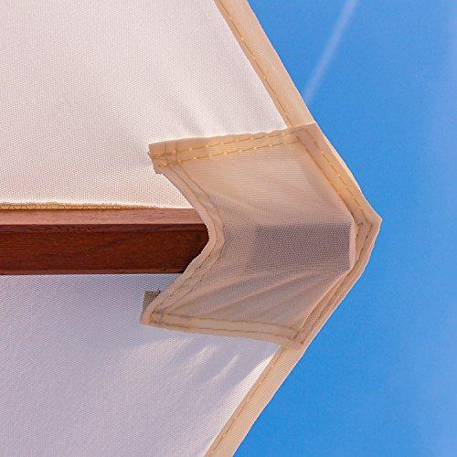 Anndora 25001 Sonnenschirm Terracotta 250 Cm Rund Gestell Holz