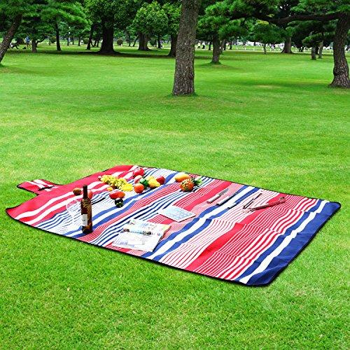 homfa 200 x 200 cm picknickdecke xxl stranddecke aus fleece wasserdicht gro faltbar leicht mit. Black Bedroom Furniture Sets. Home Design Ideas