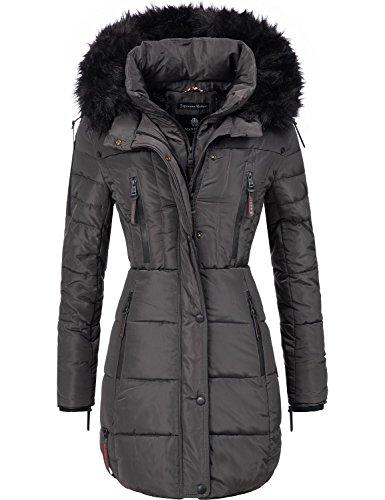 quality design f58e3 5c3ba Marikoo Damen Winter Mantel Steppmantel Moonshine (vegan hergestellt)  Anthrazit Gr. S