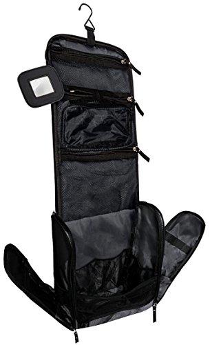 Großer Premium Kulturbeutel Kulturtasche zum Aufhängen für Männer und Frauen – Reise Kulturbeutel mit GRATIS Flüssigkeitsbehälter und Schlafbrille –
