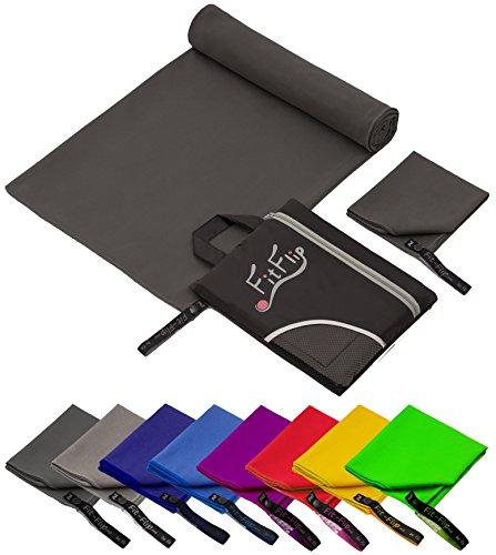 fit flip 100x200cm 1 st ck dunkel grau mikrofaser. Black Bedroom Furniture Sets. Home Design Ideas