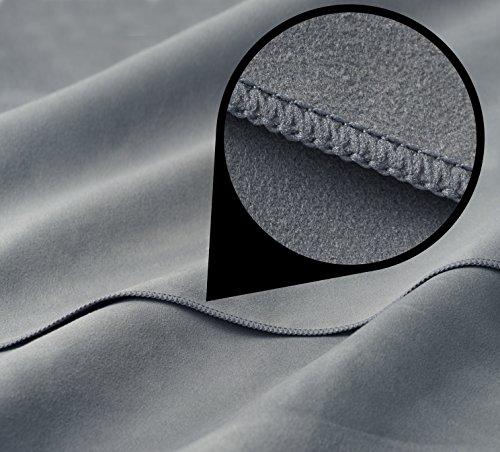 fit flip set 70x140cm 30x50cm tasche grau microfaser. Black Bedroom Furniture Sets. Home Design Ideas