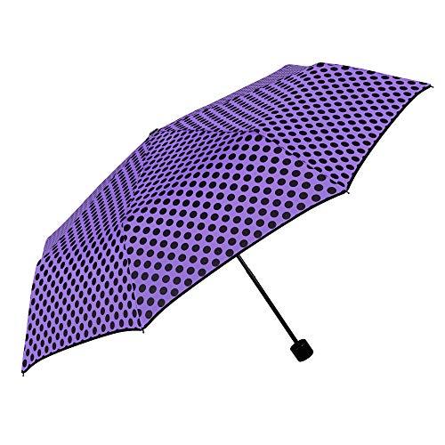 Regenschirm Damen Punkten Tupfen Taschenschirm Automatik