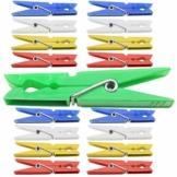 120 Stück farbige Wäscheklammern 70mm Wäsche Klammer Kunststoff Klammern Feder - 1