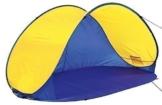 4Uniq Pop Up Zelt - Strandmuschel Campingzelt blau/gelb 18631-003 - 1