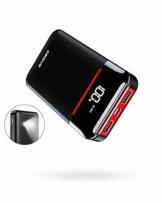 Aikove Powerbank 10000mAh Wahre, Power Bank mit LCD Display, 2 Ausgängen(zwei 2.4A)und 2 Eingängen(USB C & Micro zwei 2.4A), Kleine und Leichte Externer Akku mit LED-Licht für Allen Handys und Tablets - 1