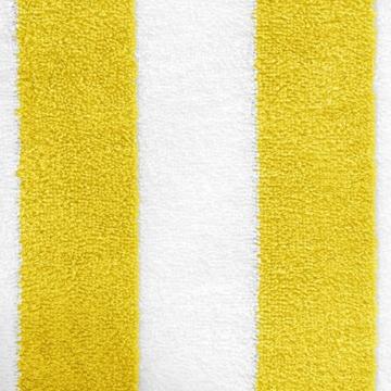 AmazonBasics - Strandtuch, Blockstreifen, Gelb, 2er-Pack - 6