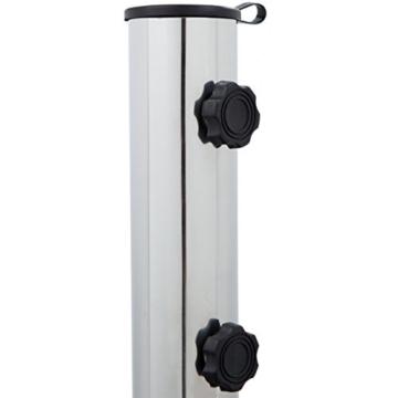 Anaterra Sonnenschirmständer, Schirmständer für Garten oder Balkon, aus Granit und Edelstahl, 20 kg, rund, mit Griffmulden - 5