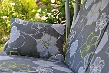 Angerer Comfort Hollywoodschaukel 3-Sitzer Design Meran, grau, 210 x 145 x 160 cm, 1901/022/15 - 4