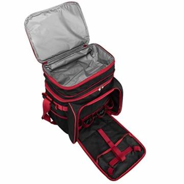 anndora Picknicktasche schwarz weiß gepunktet Kühltasche inkl. Zubehör 4 Personen 29 Teile - 8