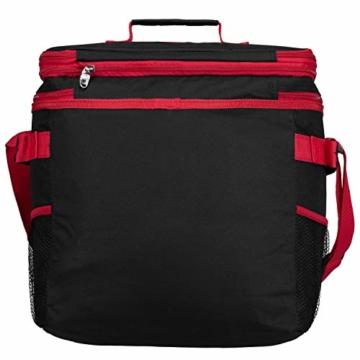 anndora Picknicktasche schwarz weiß gepunktet Kühltasche inkl. Zubehör 4 Personen 29 Teile - 9