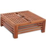 Anself Abdeckung für Sonnenschirmständer Balkonschirmständer aus Holz - 1