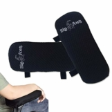 Armlehnen Polster, Armlehnenschoner für Bürostuhl und Spielstuhl,Memory-Schaum Armlehnen Kissen mit Gurt, auch als Maus Keyboard Handballenauflage für Ellenbogen & Handgelenk - 1