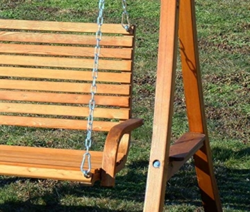 ASS Design Hollywoodschaukel Gartenschaukel Hollywood Schaukel aus Holz Lärche, Farbe:Braun - 2