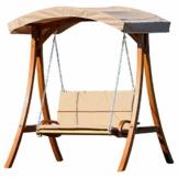 ASS Design Hollywoodschaukel Gartenschaukel Hollywood Schaukel aus Holz Lärche, Farbe:Braun - 1