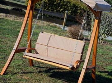 ASS Design Hollywoodschaukel Gartenschaukel Hollywood Schaukel aus Holz Lärche, Farbe:Braun - 8