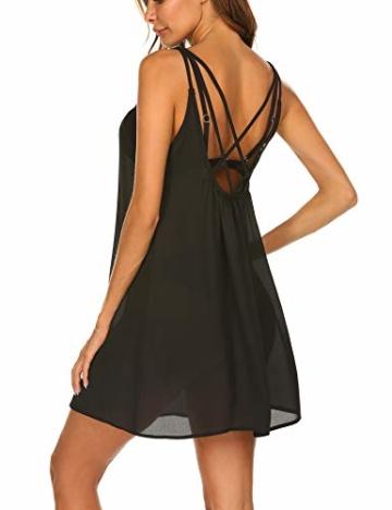 Balancora Bikini Cover up Strandkleid Damen Strandponcho Pareos Chiffon Loose Fit Sexy Kleid Transparent Strand Sommer Tunika Lang - 4
