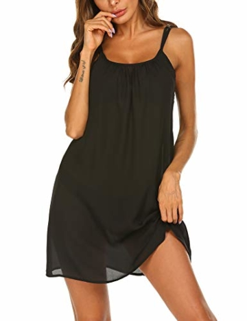 Balancora Bikini Cover up Strandkleid Damen Strandponcho Pareos Chiffon Loose Fit Sexy Kleid Transparent Strand Sommer Tunika Lang - 1