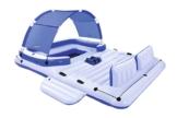 Bestway Cooler Z, Badeinsel mit viel Platz für bis zu 6 Personen, 373x264x73 cm - 1