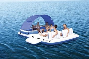 Bestway Cooler Z, Badeinsel mit viel Platz für bis zu 6 Personen, 373x264x73 cm - 2