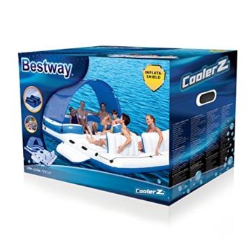 Bestway Cooler Z, Badeinsel mit viel Platz für bis zu 6 Personen, 373x264x73 cm - 3