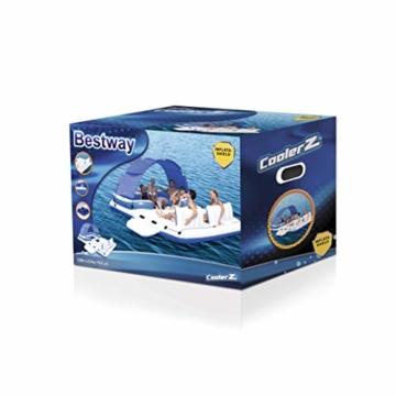 Bestway Cooler Z, Badeinsel mit viel Platz für bis zu 6 Personen, 373x264x73 cm - 4