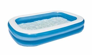 Bestway Family Pool, Pool rechteckig für Kinder, leicht aufbaubar, blau, 262 x 175 x 51 cm - 2