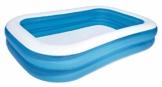Bestway Family Pool, Pool rechteckig für Kinder, leicht aufbaubar, blau, 262 x 175 x 51 cm - 1