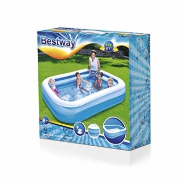 Bestway Family Pool, Pool rechteckig für Kinder, leicht aufbaubar, blau, 262 x 175 x 51 cm - 4
