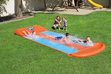 Bestway H2oGo 3er-Wasserrutsche, mit aufblasbarer Startrampe, Triple Ramp, 549 cm - 2