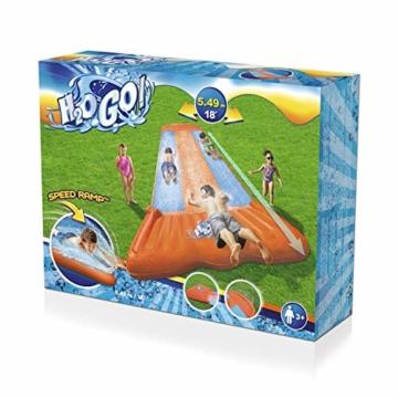 Bestway H2oGo 3er-Wasserrutsche, mit aufblasbarer Startrampe, Triple Ramp, 549 cm - 3